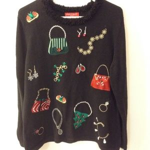 Merry and Bright Petites Christmas sweater sz PL